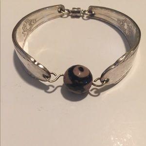 Silver spoon bracelet